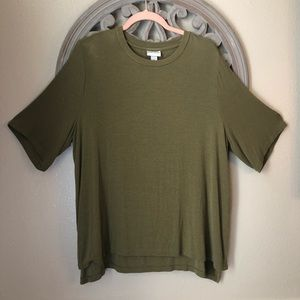 Ava & Viv olive green knit blouse